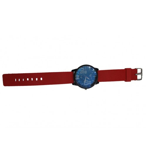 Stylish Gents Watch (Dark Red)