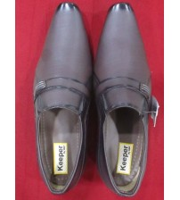 Kraasa Black Shoes for Men (Material: Patent Leather)