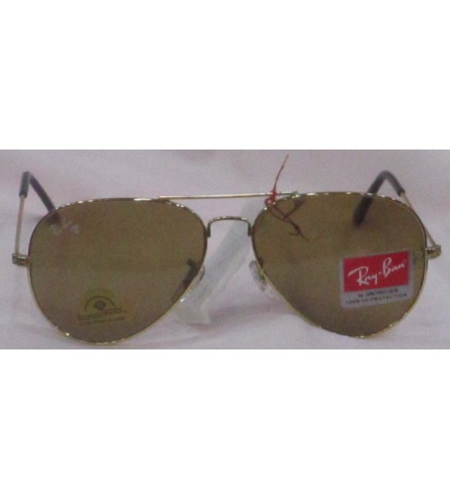 Aviator Sunglasses in Gold