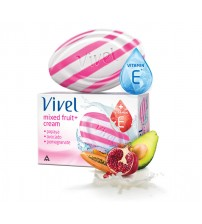 Vivel Mixed Fruit+Cream Soap ( Pack of 3 ) 100 gm