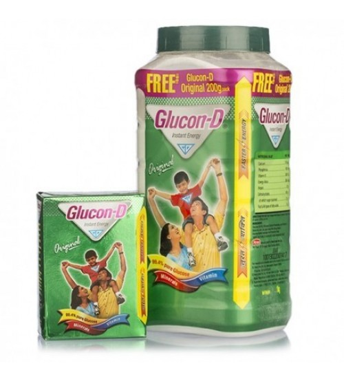 Glucon-D Original - 1 kg (Free Glucon D Orange - 200 g)