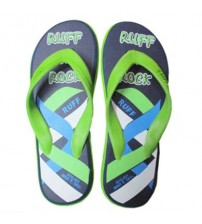 Men RUFF Blue And Green Slipper