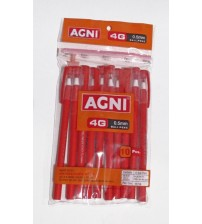 Agni 4G 0.5mm Ball Pen pack of 10 Red
