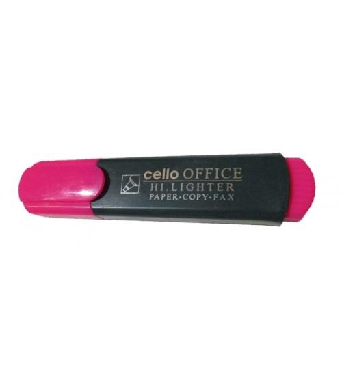 Cello Office Highlighter Pink Colour