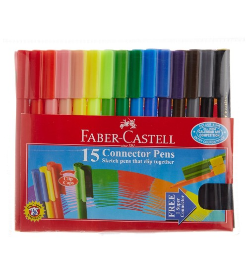 Faber-Castell Sketch Pens with Clip Cap - 15 Shades by Faber Castell
