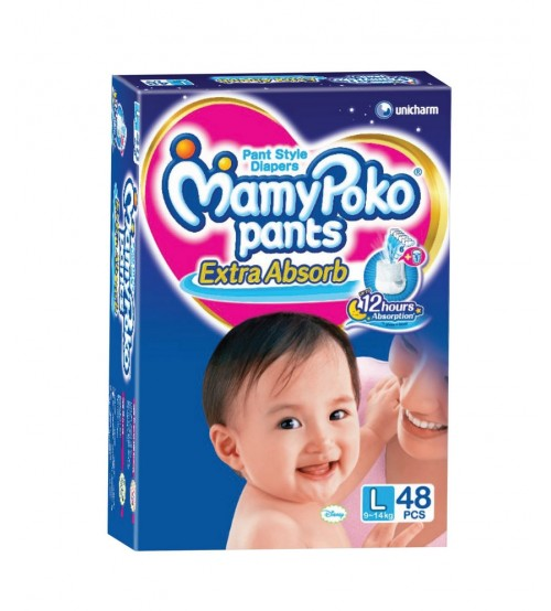 Mamy Poko Pants L48  (9-14 Kg) 48 Pcs