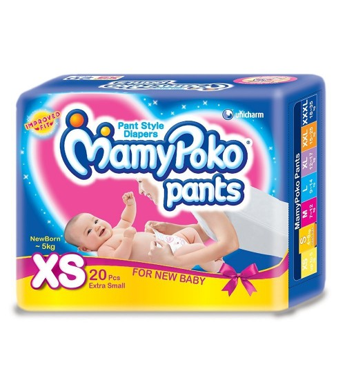 Mamy Poko Pant Style Extra Small Size Diapers (20 Pcs)