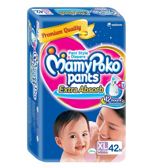 MamyPoko Pants Style Diaper XL (42 Count)