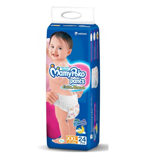 MamyPoko Pants Extra Absorb XXL Size Diapers (24 Count)