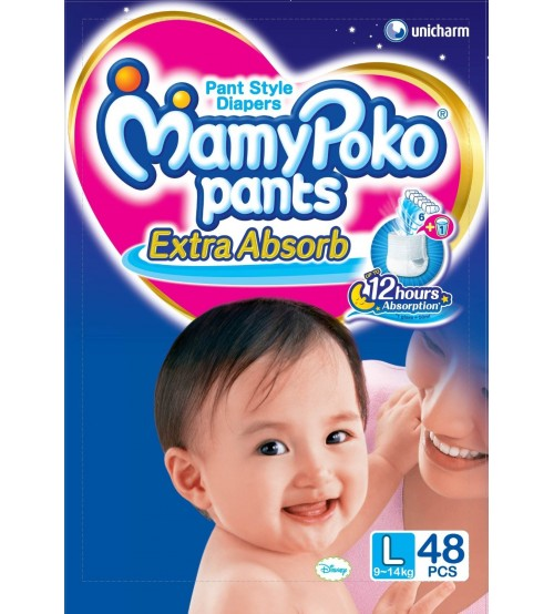 MamyPoko Pants Large Size Diapers Extra absorb (48 Count)